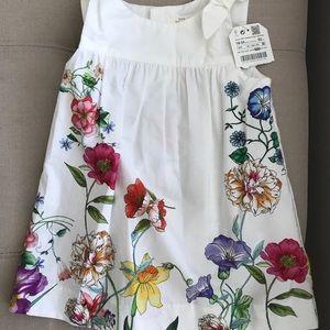 NWT baby/toddler girl ZARA white floral dress